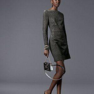 NWOT Diane von Furstenberg Metallic Mini Dress